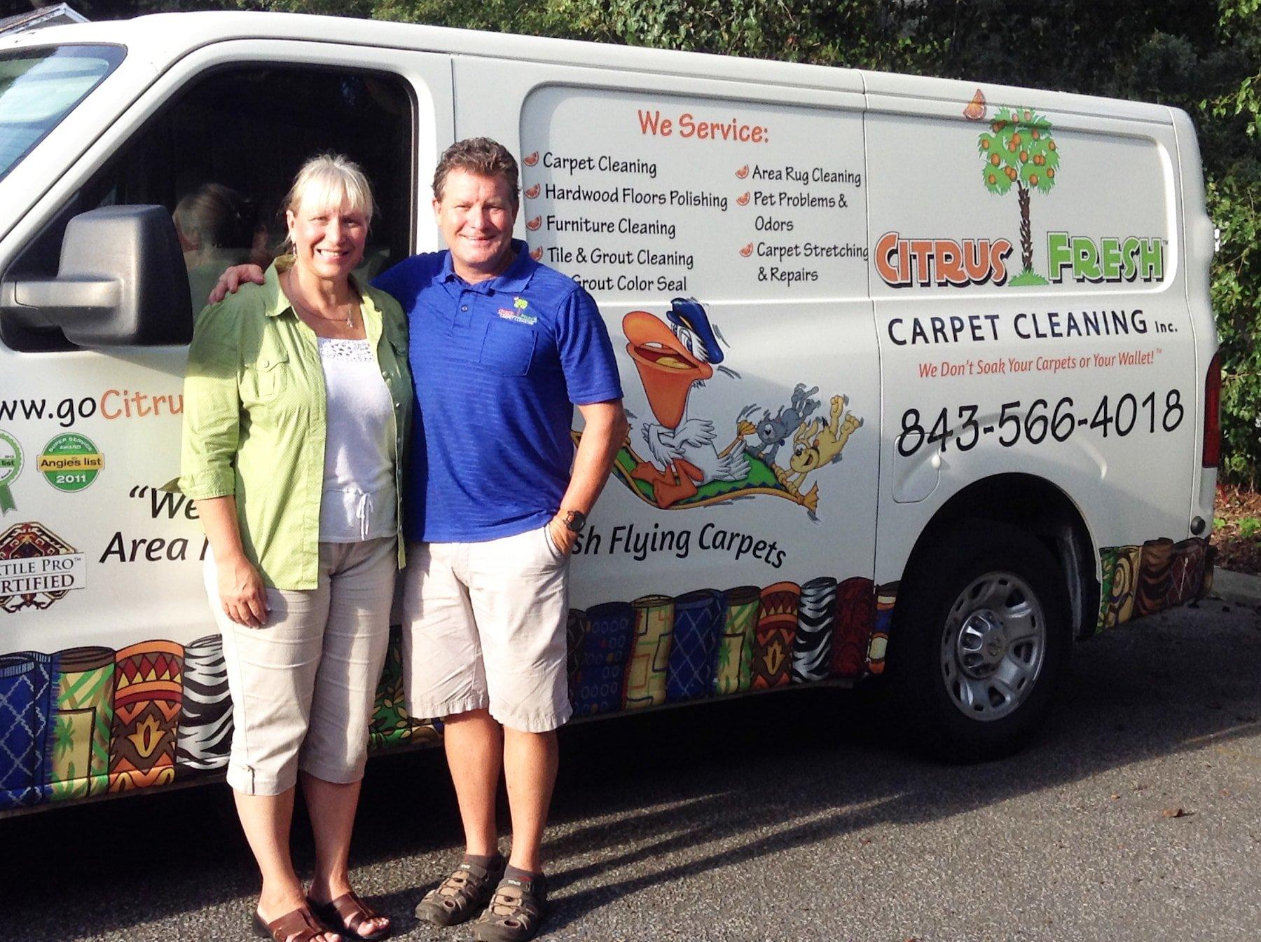 Citrus Fresh Team Greg Mary Broome Citrus Fresh Carpet
