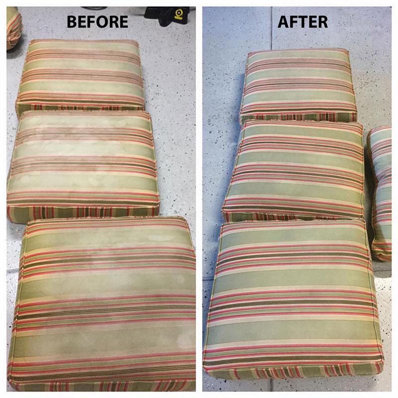 Sofa cushions we cleaned